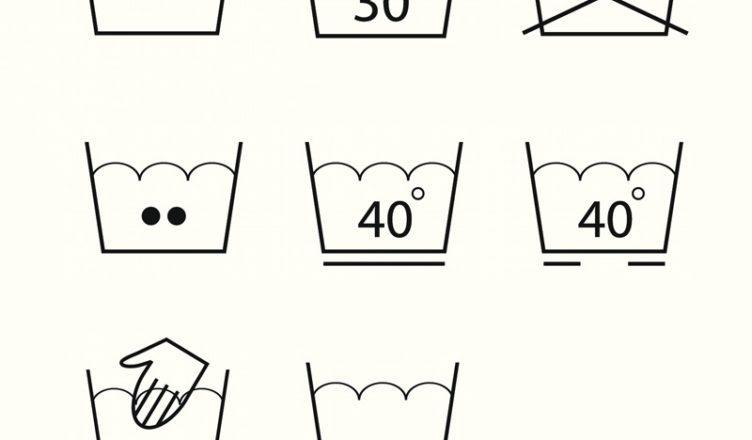 symboly praní prádla